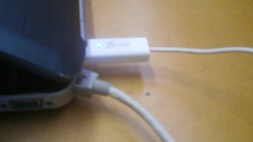 USB into the Laptop